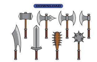 barbarian icon or logo high resolution vector