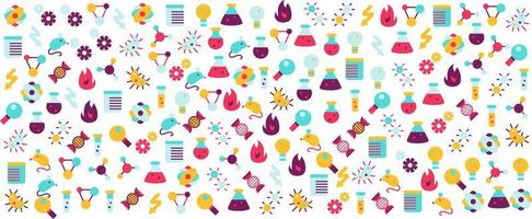 Science and research vector stylish art banner