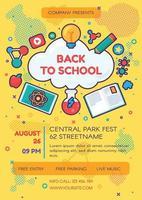 School online educational poster template vector