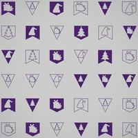 Festive bunting flags for any background vector