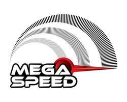 mega speed, concept design vector. vector