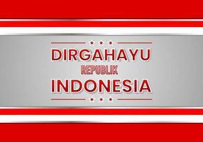 Happy Indonesian Day vector illustration
