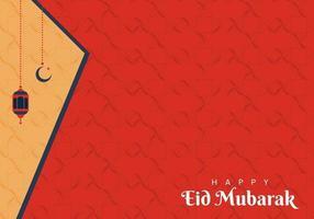 eid Mubarak red background vector