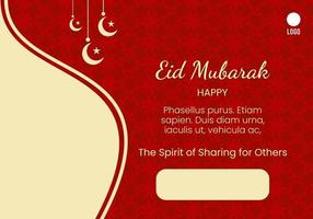 red background  for eid al adha celebration vector
