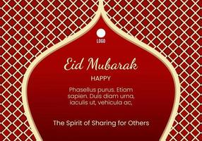 red background with checkered pattern for eid al adha celebration vector