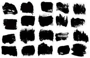 Set of grunge vector brush strokes. Artistic design elements