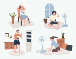 gente calurosa de verano vector