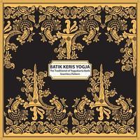 Batik Keris Yogja - The Traditional of Yogyakarta Batik vector