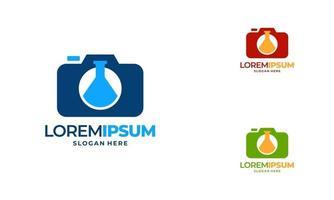 Science Photography logo designs concept vector, Laboratory  logo vector