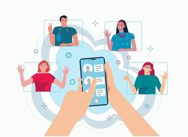 Refer a friend concept for landing page, web, template, mobile app, ui vector
