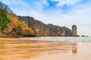 Beautiful summer beaches and limestone mountains photo