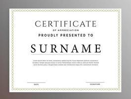 Modern Commercial Business Certificate Design vector