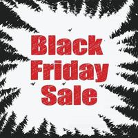 black friday sale banner with red and black grunge background vector