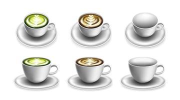 taza para café o té y bebida caliente. plantilla de maqueta de taza para logo. vector