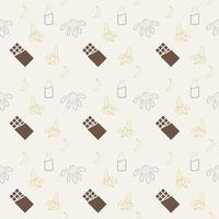 seamless pattern with dessert and bananas vector