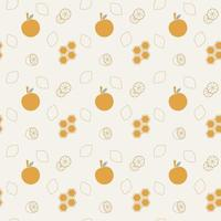 seamless background with oranges vector