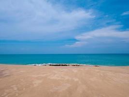 Beautiful summer beach and blue sky photo