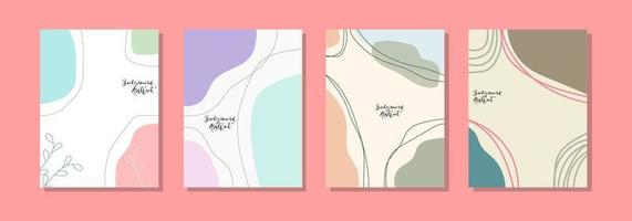social media post background template, abstract design vector