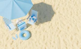 concepto de vacaciones de verano. vista superior foto