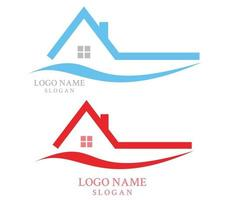 home buildings logo and symbols icons template Free Vector