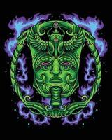 Egyptian Green Realm King Emperor Logo vector