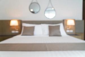 Abstract blur beautiful luxury hotel bedroom photo