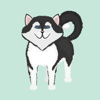 dog breed cartoon funny puppy vector ilustration