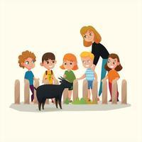 kindergarten icon flat design vector ilustration