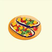 vegetarian dishes icon vector ilustration