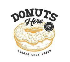 Donut Retro Emblem vector