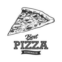 Pizza Retro Emblem vector
