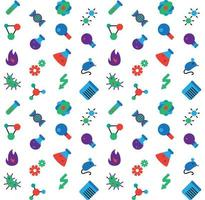 Science icons seamless pattern vector