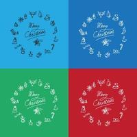 corona de navidad de invierno vector