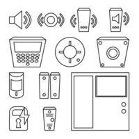 Vector simple set of detectors icons