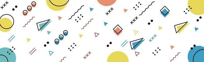 Abstract background with different geometric shapes vector