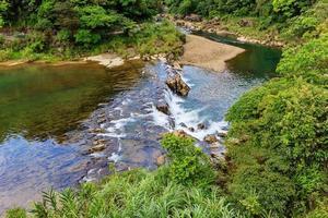 Pequeño río cerca de la cascada de Shifen en Shifen, Taiwán foto
