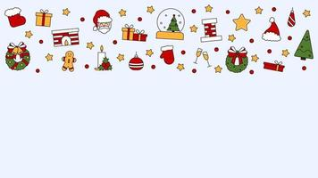 Pattern with place for text with symbols of Christmas Happy New Year vector