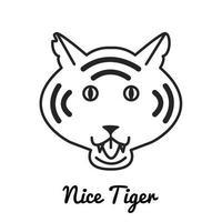 Tiger logo or icon vector