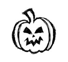 halloween pumpkin hand drawn sketch vector