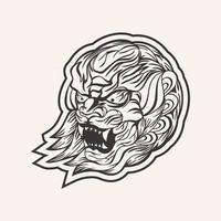 Lion art design vector