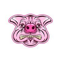 logo de cabeza de cerdo vector