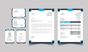 Abstract classic corporate identity business stationery template vector