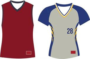 V Neck Softball Jersey Set Sleeves vector