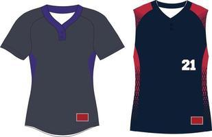 Women Two Button Softball Pullover jersey vector