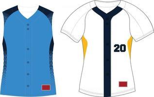 Women Full Button Softball Front Jersey Raglan Sleeves vector