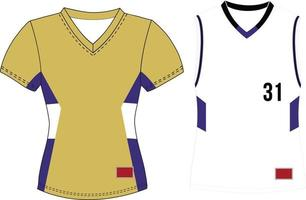 Women V Neck Pullover Sleeveless Jersey vector