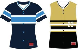 Girls Full Button Softball Sleeveless Jersey vector