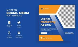 digital marketing agency social media post banner vector