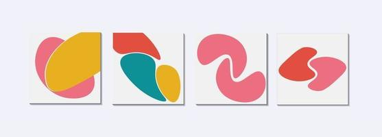 Abstract arts with fun and trendy colors vector