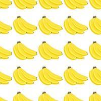 Illustration on theme big colored seamless banana vector